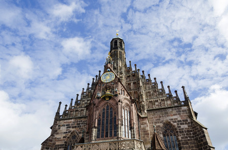 hauptmarkt: Frauenkirche (Church of Our Lady) in Nuremberg,  Germany Stock Photo