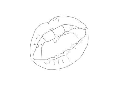 open mouth: open mouth Illustration