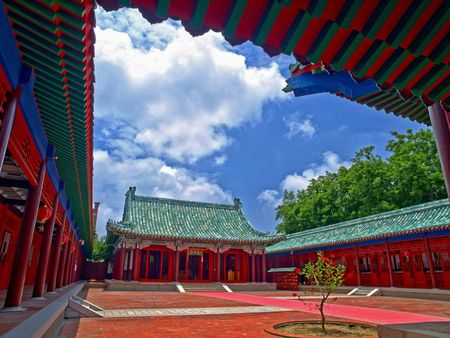 shrine: Koxinga Shrine, Tainan City, Taiwan Stock Photo
