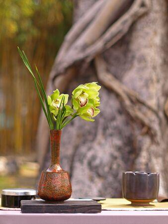 Background Picture of Ikebana photo