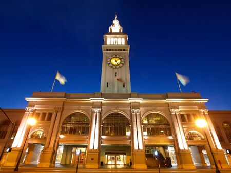 The night scenes of Ferry Building in San Francisco Stock Photo - 6430704