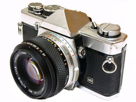 reflex: Single Lens Reflex Camera isolati su sfondo bianco