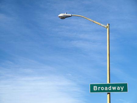 Broadway Street Name Sign photo