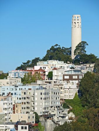 coit tower: The Coit Tower in San Francisco