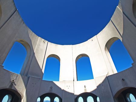 coit: Top sky of Coit Tower in San Francisco