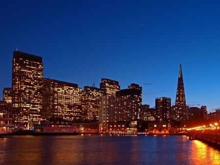 The Skyline of San Francisco at night photo