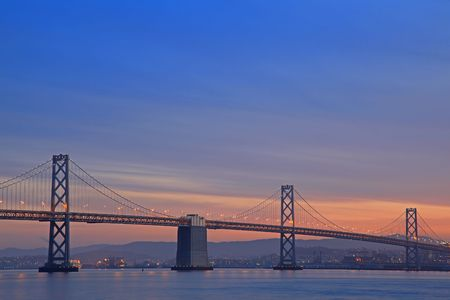 The Night Scene of Bay Bridge photo