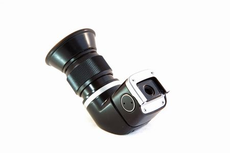 finder: Right Angle View Finder Isolated on White Background Stock Photo