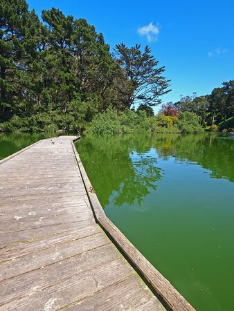 stow: Stow Lake of Golden Gate Park in San Francisco Stock Photo