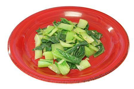 taiwanese: Taiwanese Style Homemade Meal - Bok choy Stir-fry Stock Photo