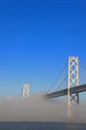 San Francisco Bay Bridge Misted Over Stock Photo - 8775625