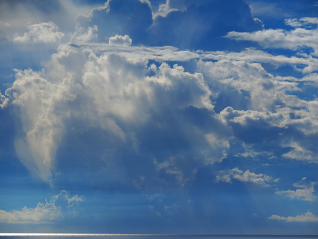 dramatically: Dramatically cloud above pacific