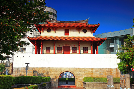 east gate: Historic City East Gate, Tainan City,Taiwan Editorial