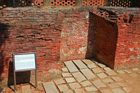 remains: The remains of Fort Provintia, Tainan City, Taiwan Editorial