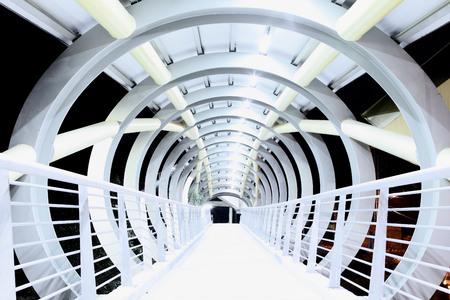 arquitectura abstracta: Configuraci�n abstracta en la noche Foto de archivo