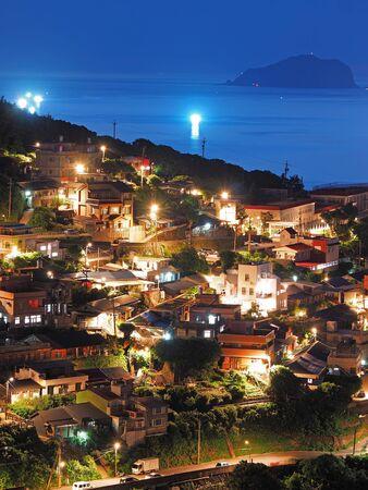 Night Scene in Keelung mountain Stock Photo