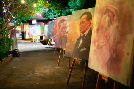 Art exhibition to commemorate King Bhumibol the Great, or King Rama 9 Lampang 新聞圖片