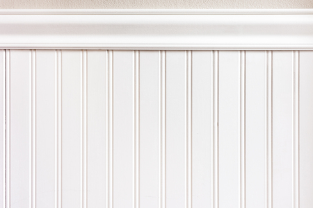 White wainscot or bead board