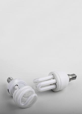 Energy saving lamp on white background Stock Photo - 14118866