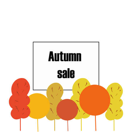Autumn typographic. Fall leaf. Vector illustration EPS 10 Иллюстрация