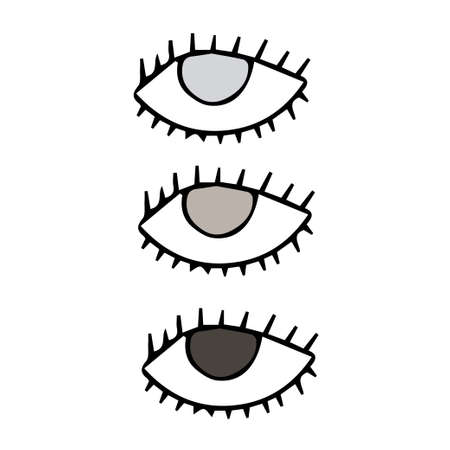 three eyes poster for protection tribal symbols isolated