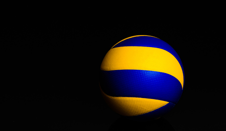 volleyball ball on black background.