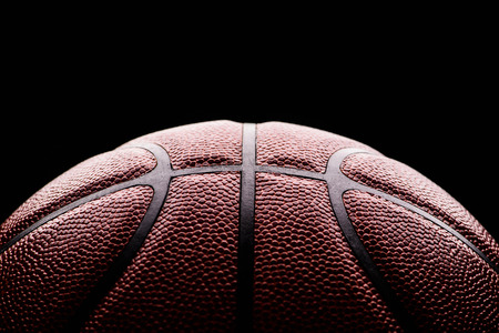 basketball ball on black background. Stock Photo