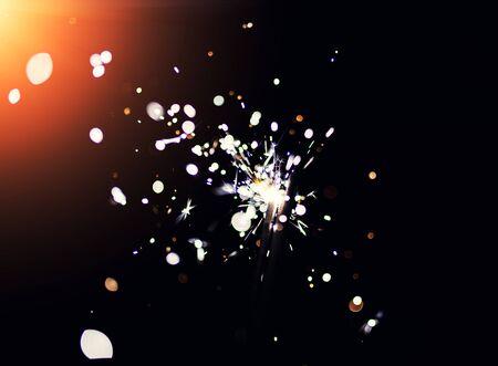christmas sparkler Standard-Bild