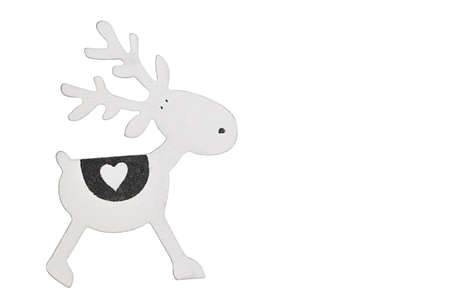 Christmas toy deer decoration isolated on white background. 版權商用圖片