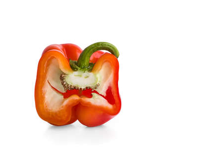 Red pepper isolated on white background 版權商用圖片