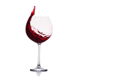 Red wine splash isolated on white background. 版權商用圖片