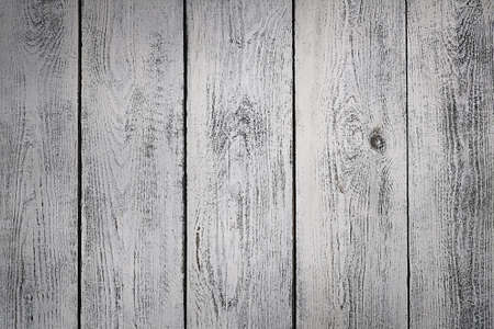 Very old blank, textured white wooden board background