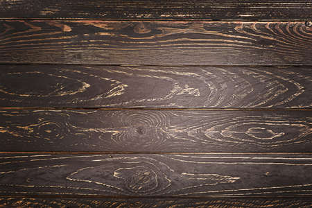 Dark old wooden table texture background