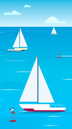 Sailing yachts on the water.