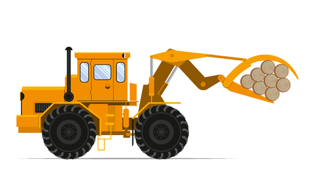 sidelight: Tractor loader wood. Vector