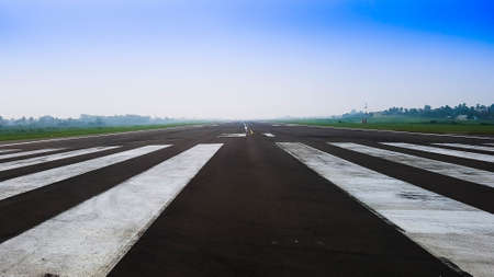 End of the airport runway