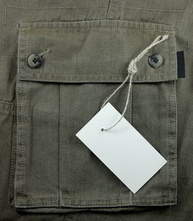 price tag over textured pocket photo
