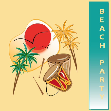 beach party Stock Vector - 8957566