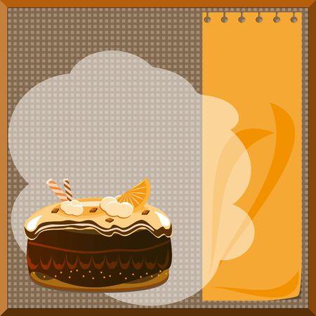 cake menu Vector