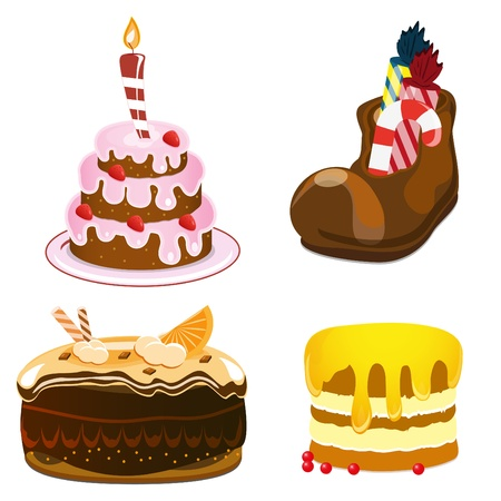 cakes set Stock Vector - 9177441