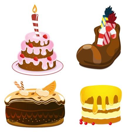fruitcake: cakes set