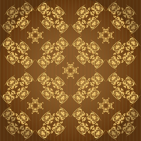 golden wallpaper with a pattern - seamless texture Vector