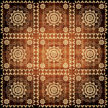 golden wallpaper with a pattern - seamless texture Stock Photo - 10119037