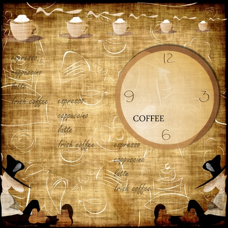 hot spot: coffee abstract grunge background - card menu