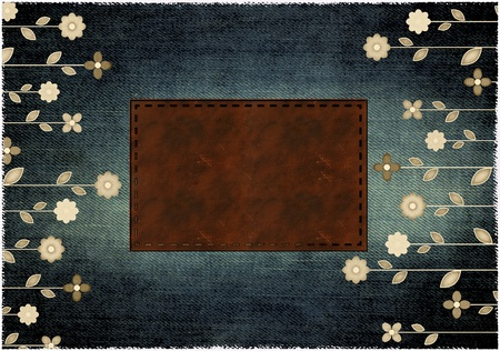 jeans  background with place for text