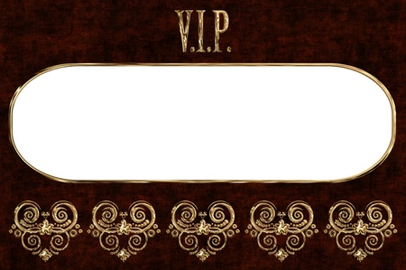 spangle: VIP golden card with place for text