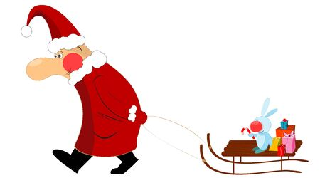 Christmas santa claus isolated on white background Vector