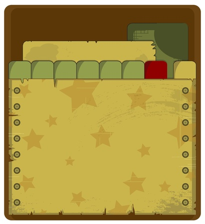 tarnished: grunge military background - stars on brown background