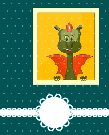 Greeting Card 2012 with dragon and place for text Vector