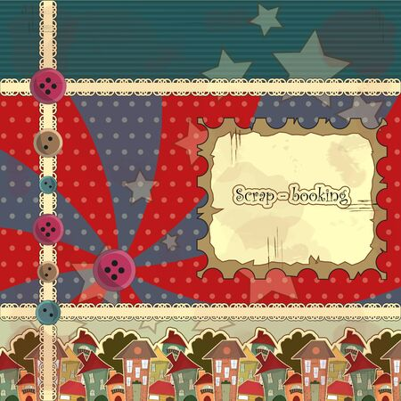 Vintage frame in the style of scrapbooking Vector